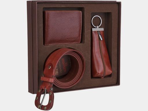 Мужской подарочный набор Alexander TS NP003 Cognac