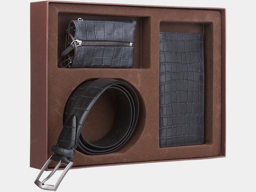 Мужской подарочный набор Alexander TS NP007 Black Croco