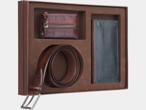 Мужской подарочный набор Alexander TS NP013 Green Brown