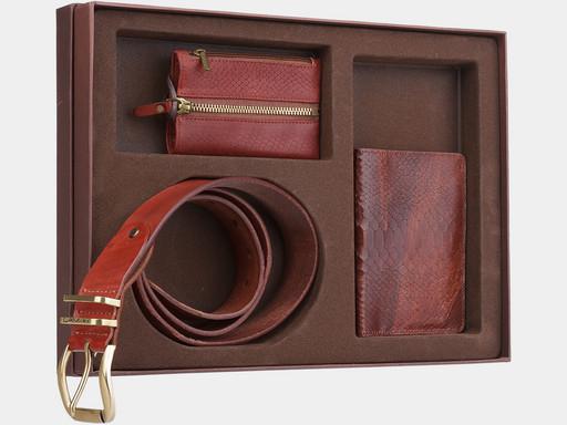 Мужской подарочный набор Alexander TS NP015 Cognac