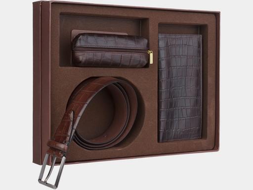 Мужской подарочный набор Alexander TS NP018 Brown Croco