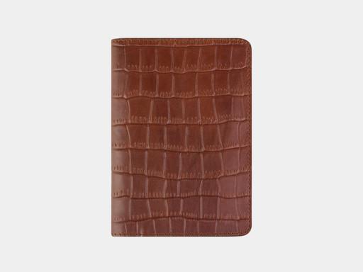 Обложка для паспорта Alexander TS PR006 Cognac Croco