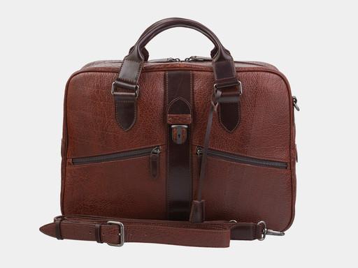 Сумка Alexander TS PF0022 Cognac Brown Bizon
