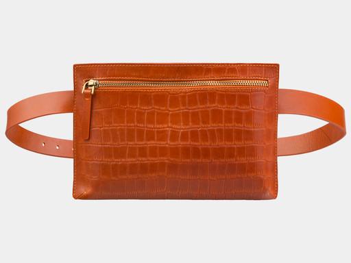 Женская сумка на пояс Alexander TS KB0014 Orange Croco