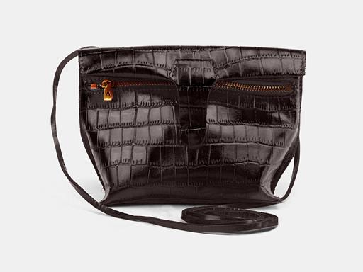 Женская сумка клатч Alexander TS KB002 Brown Croco