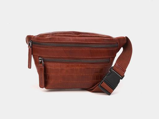 Женская сумка на пояс Alexander TS KB0015 Cognac Croco