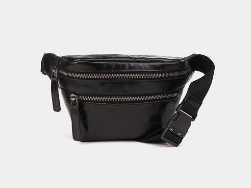 Женская сумка на пояс Alexander TS KB0015 Black Croco