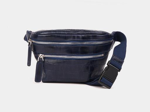 Женская сумка на пояс Alexander TS KB0015 Blue Croco