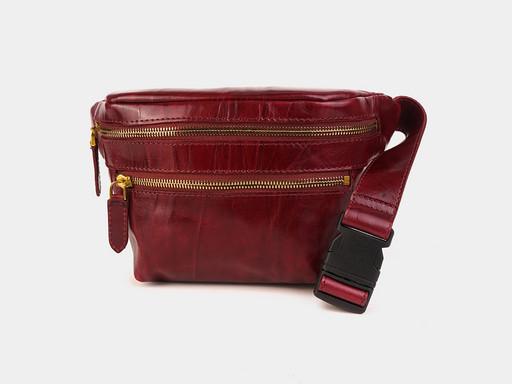 Женская сумка на пояс Alexander TS KB0015 Bordo