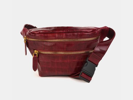 Женская сумка на пояс Alexander TS KB0015 Bordo Croco