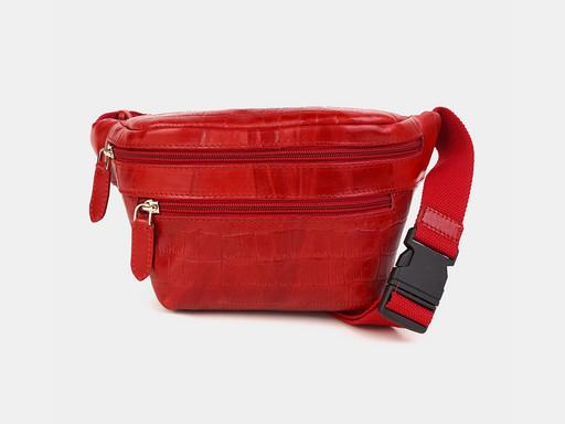 Женская сумка на пояс Alexander TS KB0015 Red Croco