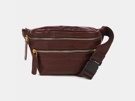 Женская сумка на пояс Alexander TS KB0015 Brown Croco