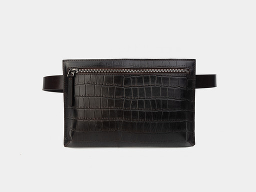 Женская сумка на пояс Alexander TS KB0014 Brown Croco
