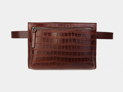 Женская сумка на пояс Alexander TS KB0014 Congac Croco