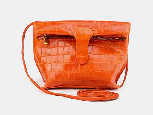 Женская сумка клатч Alexander TS KB002 Orange Croco