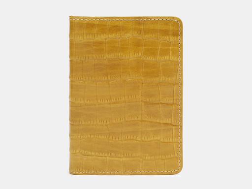 Обложка для паспорта Alexander TS PR006 Yellow Croco
