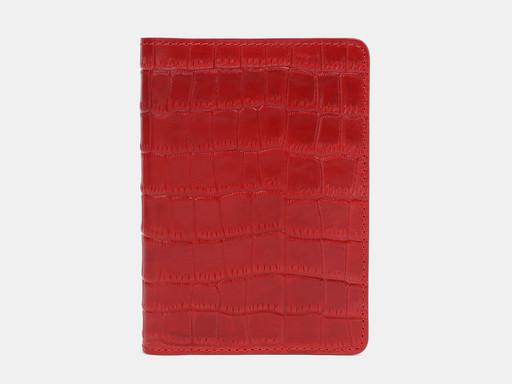 Обложка для паспорта Alexander TS PR006 Red Croco