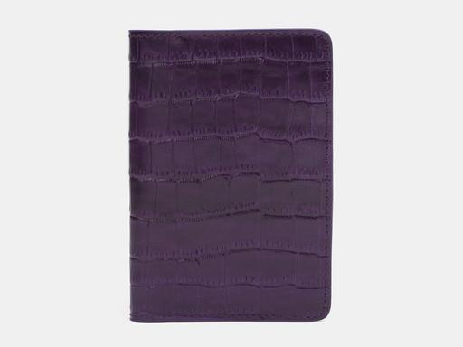 Обложка для паспорта Alexander TS PR006 Violet Croco