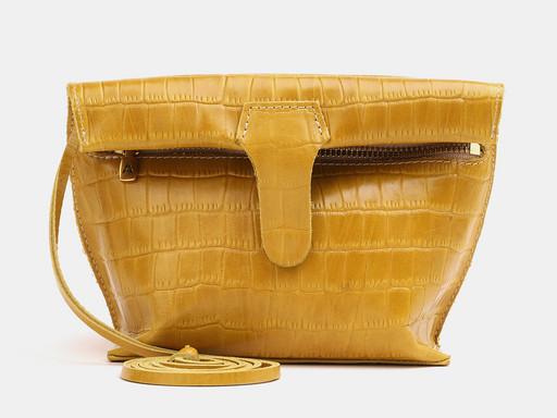 Женская сумка клатч Alexander TS KB002 Yellow Croco