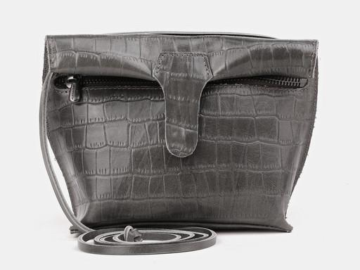 Женская сумка клатч Alexander TS KB002 Gray Croco