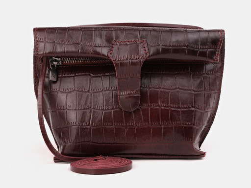 Женская сумка клатч Alexander TS KB002 Eggplant Croco
