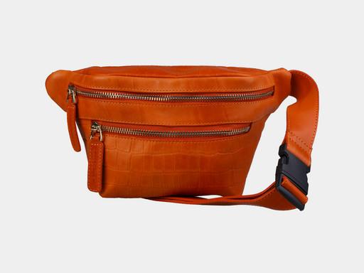 Женская сумка на поясе Alexander TS KB0015 Orange Croco