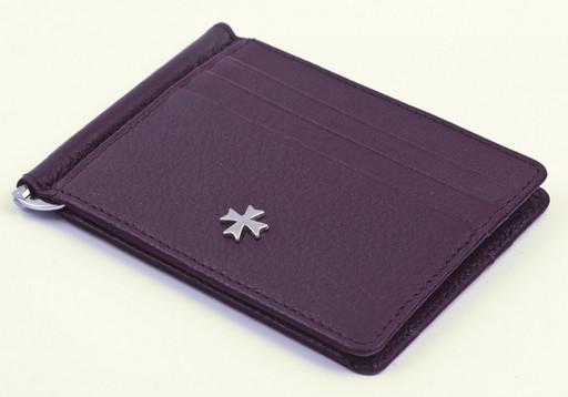 Женское портмоне с зажимом NarVin 9670 N.Polo Burgundy