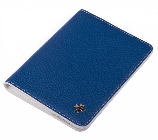 Обложка для паспорта NarVin 9149 Polo Blue/Beige