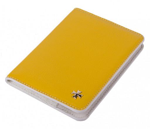 Обложка для паспорта NarVin 9149 Polo Yellow / Biege