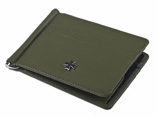 Женское портмоне с зажимом NarVin 9670 N.Polo Olive