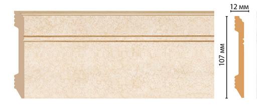 Плинтус напольный DECOMASTER D105-18D (107*12*2400мм)