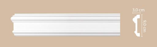 A028 Молдинг гладкий Decomaster (90*30 мм)