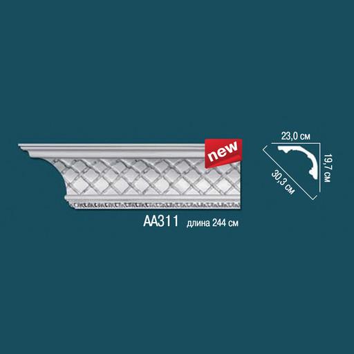 Лепнина Перфект Карниз потолочный с рисунком AA311