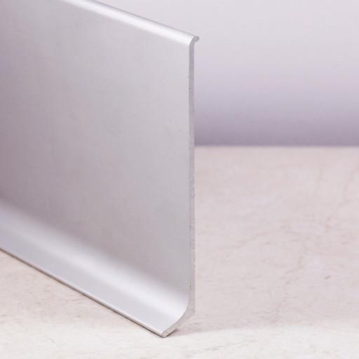 Плинтус напольный алюминиевый серебро матовое