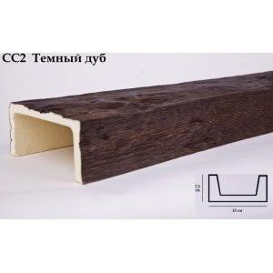 Балка декоративная Уникс СС2 Темный Дуб