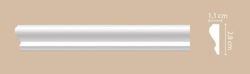 A032 Молдинг гладкий Decomaster (28*11 мм)
