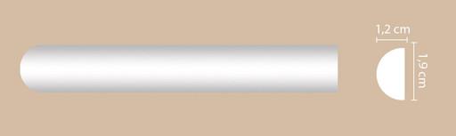 A034 Молдинг гладкий Decomaster (19*12 мм)