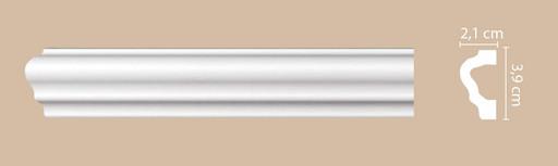 A020 Молдинг гладкий Decomaster (39*21 мм)