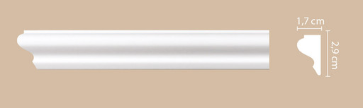 A021 Молдинг гладкий Decomaster (29*17 мм)