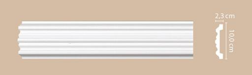 A027 Молдинг гладкий Decomaster (100*23 мм)