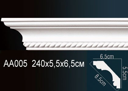 Лепнина Перфект Карниз потолочный с рисунком AA005
