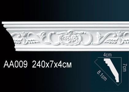 Лепнина Перфект Карниз потолочный с рисунком AA009
