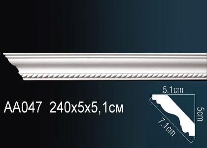 Лепнина Перфект Карниз потолочный с рисунком AA047