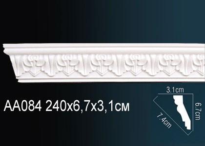 Лепнина Перфект Карниз потолочный с рисунком AA084