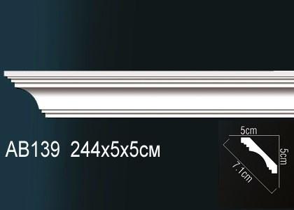 Лепнина Перфект Карниз потолочный гладкий AB139