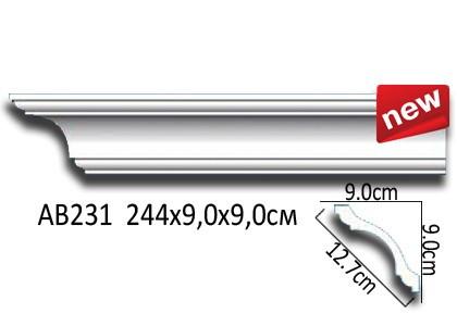 Лепнина Перфект Карниз потолочный гладкий AB231