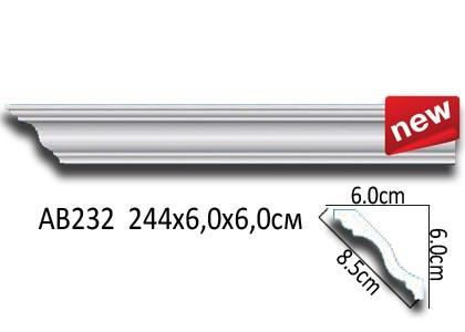 Лепнина Перфект Карниз потолочный гладкий AB232