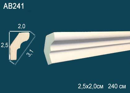 Лепнина Перфект Карниз потолочный гладкий AB241