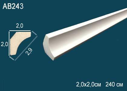 Лепнина Перфект Карниз потолочный гладкий AB243