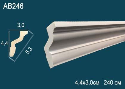 Лепнина Перфект Карниз потолочный гладкий AB246